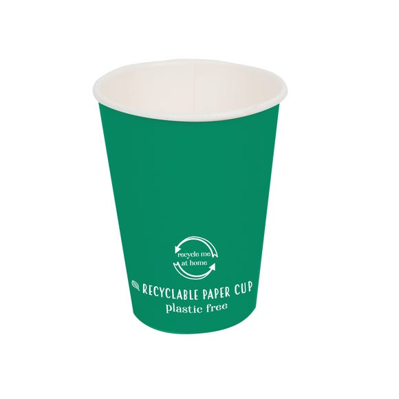 Pack of 8 Recyclable Cups Green