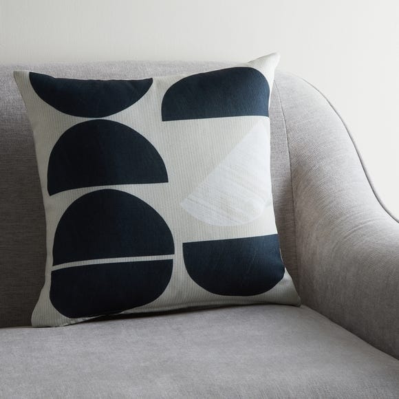 Cut Out Moon Geo Cushion MultiColoured undefined