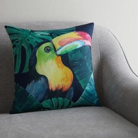 Toucan Jungle Print Cushion