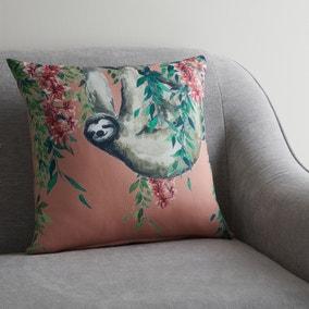 Sloth Jungle Print Cushion