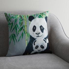Panda Jungle Print Cushion