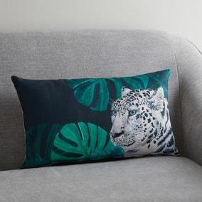 Snow Leopard Jungle Cushion