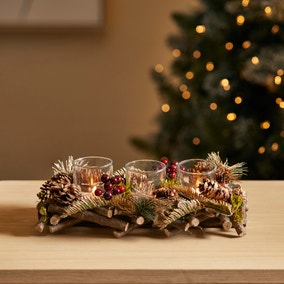Twig and Berries 3 Tealight Centrepiece
