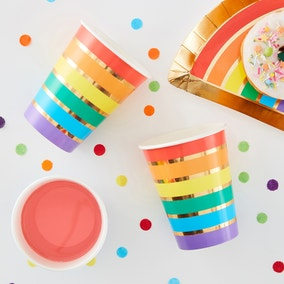 Ginger Ray Set of 8 Rainbow Cups
