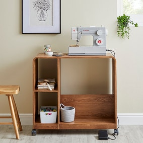 Elements Bent Ply Hobby Trolley Shelving Unit