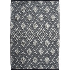 Sheya Black and Natural Rug
