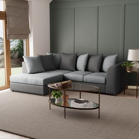 Blake Fabric Combo Left Hand Corner Sofa
