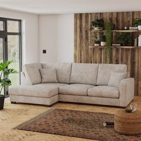Carson Chunky Chenille Left Hand Corner Sofa