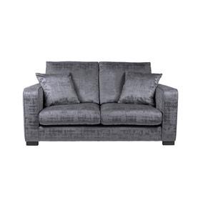 Carson Distressed Velvet 2 Seater Sofa