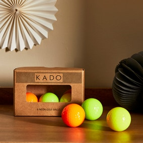 Set of 6 Neon Golf Balls