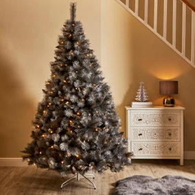 7ft Grey and Silver Christmas Tree