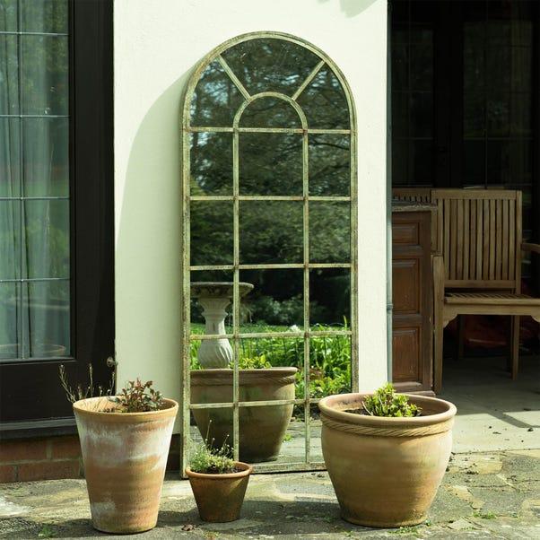 Tulip Antique Outdoor Mirror Dark Green