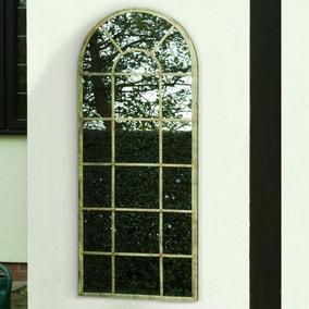 Tulip Antique Green Outdoor Mirror