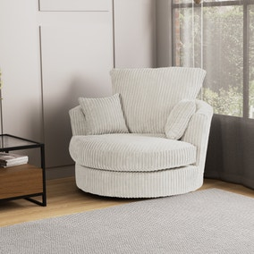 Blake Jumbo Cord Swivel Chair