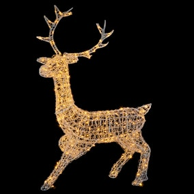 1.4M Acrylic Standing Stag Warm White LEDs