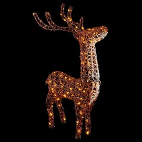 1.2M Soft Acrylic Brown Stag White LEDs