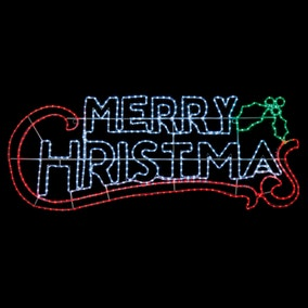 2M Rope Light Merry Christmas LED Sign