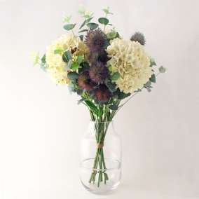 Florals Forever Hydrangea and Thistle Bouquet