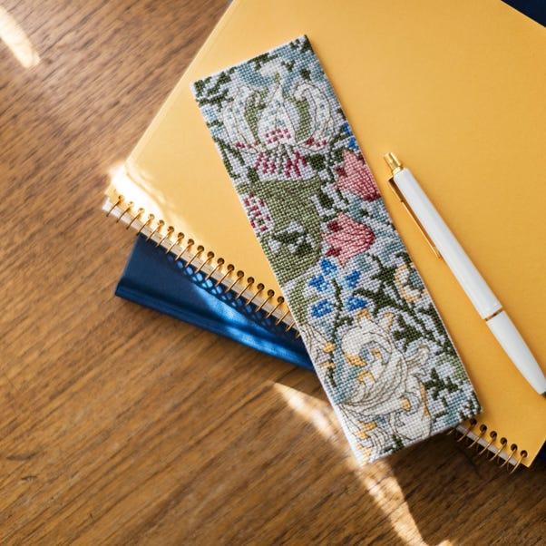 William Morris Bookmark Golden Lily Cross Stitch Kit MultiColoured