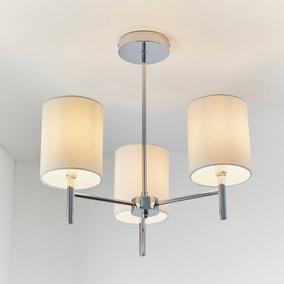 Vogue Dewey Chrome 3 Light Flush Ceiling Fitting
