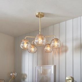Vogue Arkoma Glass 5 Light Chandelier