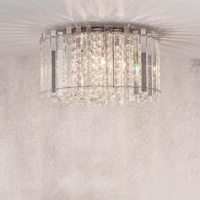 Vogue Crystal Blessing 4 Light Flush Ceiling Fitting