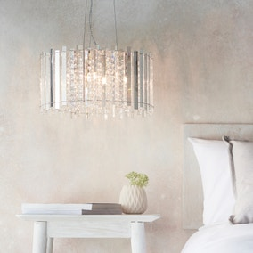 Vogue Crystal Armoury Integrated LED Pendant Fitting 52cm