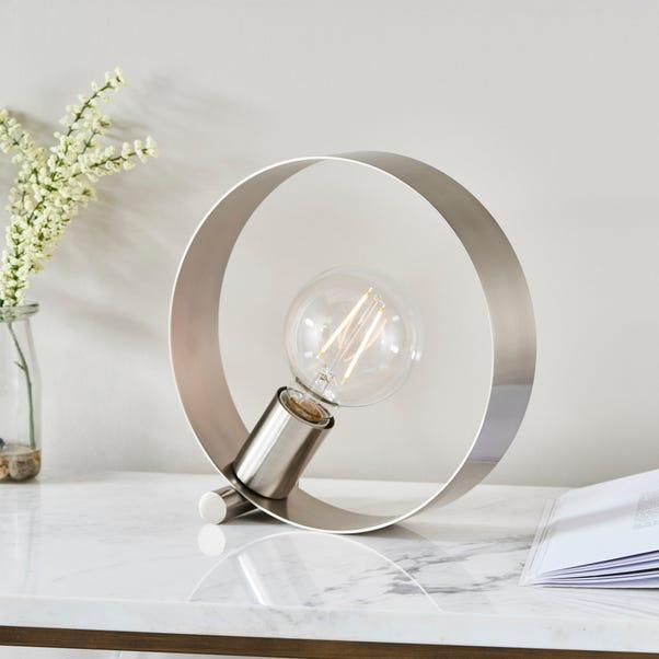 Vogue Circ Table Lamp Nickel
