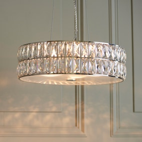 Vogue Crystal Armoury Integrated LED Pendant Fitting 48cm