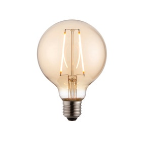 Vogue 2 Watt ES LED Amber Filament Large Globe Bulb