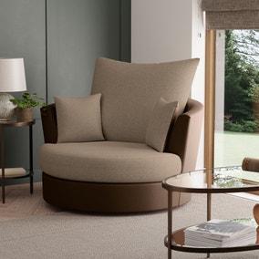 Blake Fabric Combo Swivel Chair