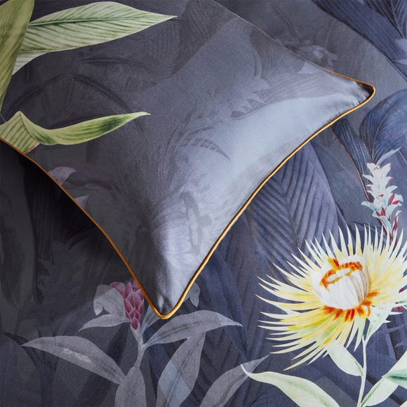 Paoletti Artemis 100% Cotton Housewife Pillowcase Pair Charcoal