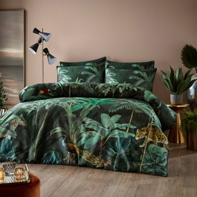 Paoletti Siona 100% Cotton Duvet Cover and Pillowcase Set