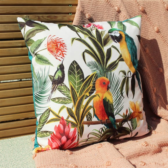 Parrots Multicoloured Outdoor Cushion MultiColoured undefined