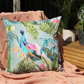 Peacock Multicoloured Outdoor Cushion
