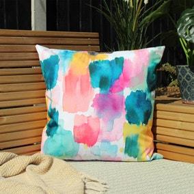 Watercolours Ochre Outdoor Cushion