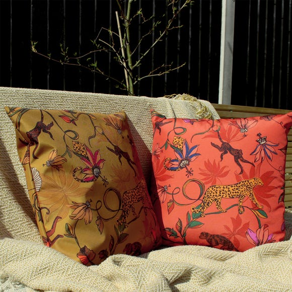 Wildlife Gold Outdoor Cushion Gold undefined
