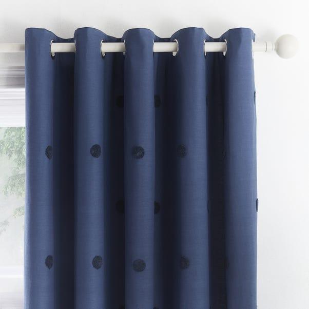 Appletree Boutique Zara Navy Eyelet Curtains  undefined