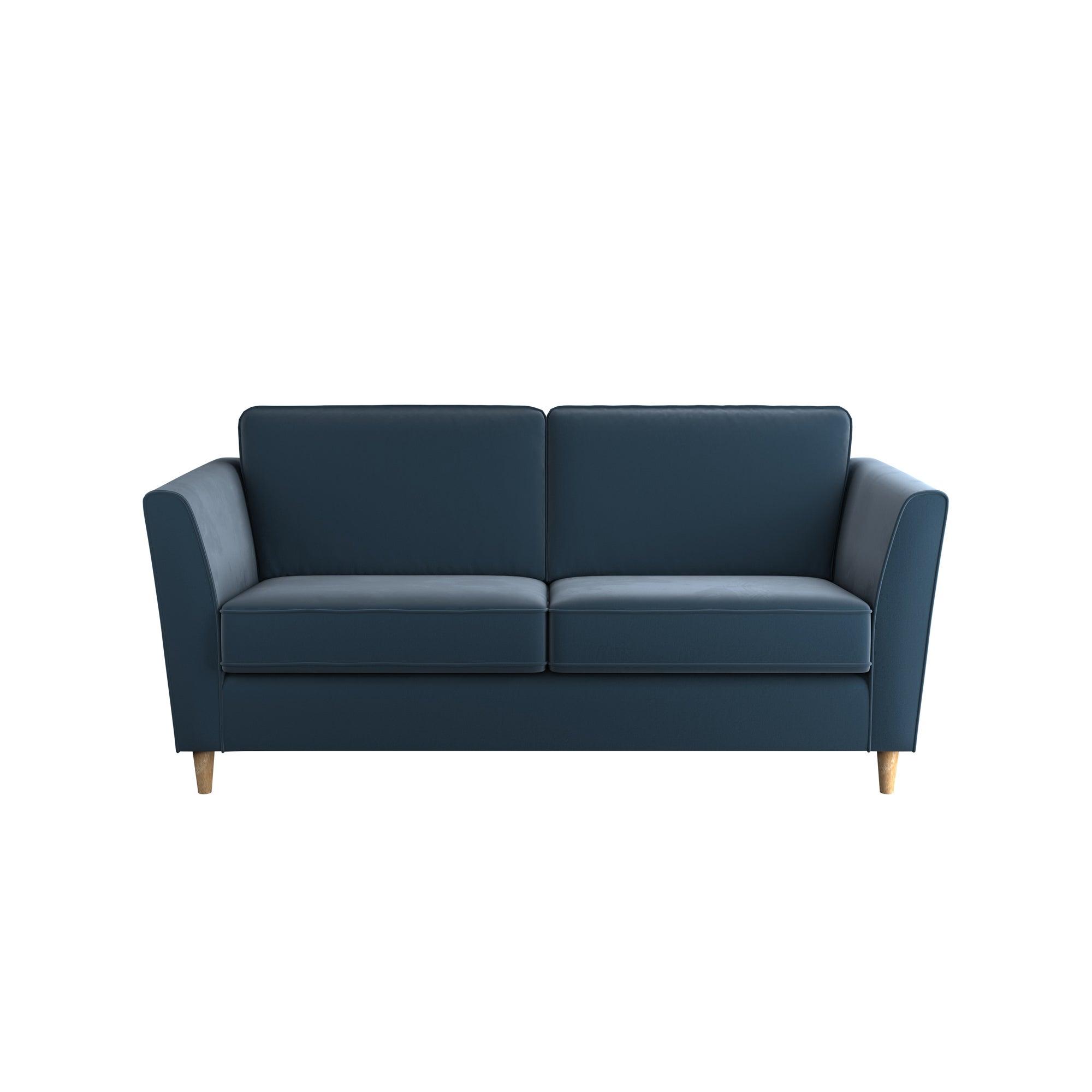 Greenwich Velvet 2 Seater Sofa Ink (Blue)