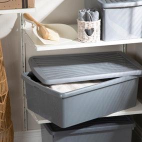 37L Grey Recycled Plastic Storage Box