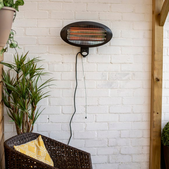 Electric Wall Mounted Patio Heater Black