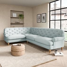 Canterbury Slub Cotton Left Hand Corner Sofa