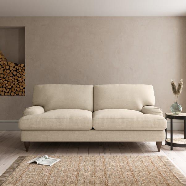 Darwin Textured Weave 3 Seater Sofa Textured Weave Honey