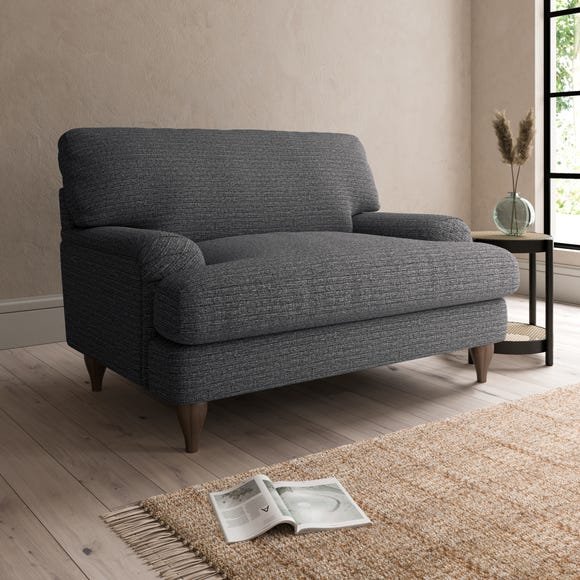 Darwin Textured Weave Snuggle Chair Textured Weave Graphite