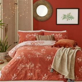 Furn. Jaipur Paprika Duvet Cover and Pillowcase Set