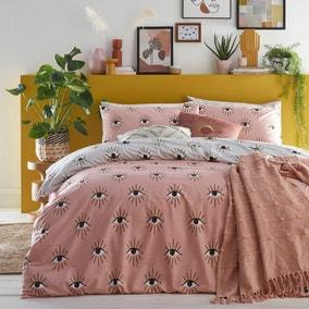 Furn. Theia Blush Duvet Cover and Pillowcase Set