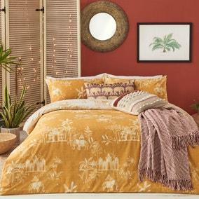 Furn. Jaipur Ochre Duvet Cover and Pillowcase Set