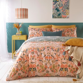 Furn. Lorelei Blush Floral Reversible Duvet Cover and Pillowcase Set