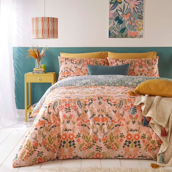 Furn. Lorelei Blush Floral Reversible Duvet Cover and Pillowcase Set  undefined