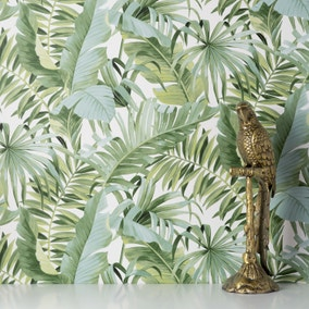 Tropical Maui Green Wallpaper